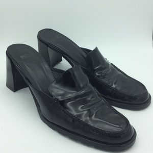Coach Patti black patent leather mule 8 1/2